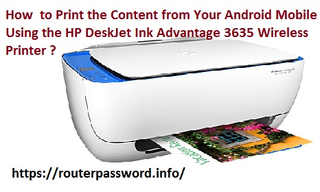 HP Deskjet Ink Advantage 3635 Wireless Printer Setup