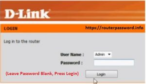 d link wireless router login password