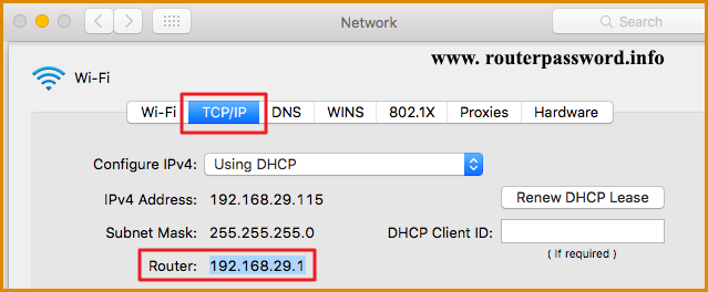 how to find my router's ip address on mac