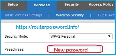 linksys router wireless network name and password